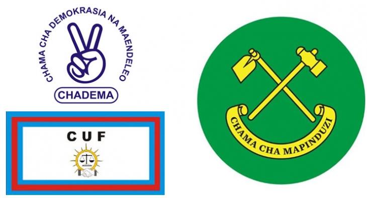 CCM,CHADEMA and CUF